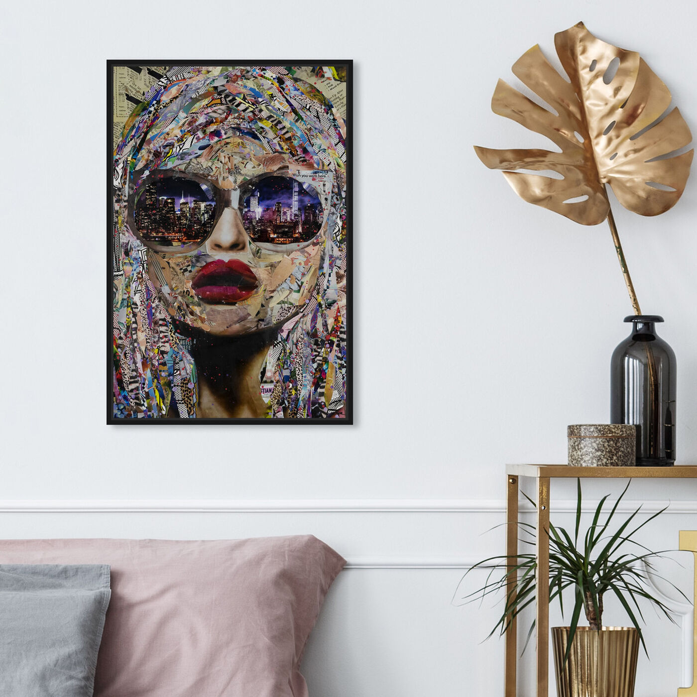 Hanging view of Katy Hirschfeld - Timing is Now featuring fashion and glam and portraits art.