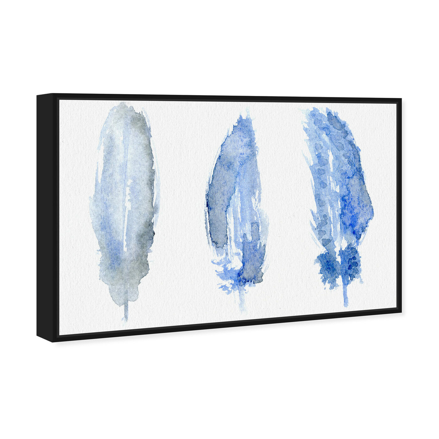 Angled view of Feathered - Signature Collection featuring abstract and shapes art.