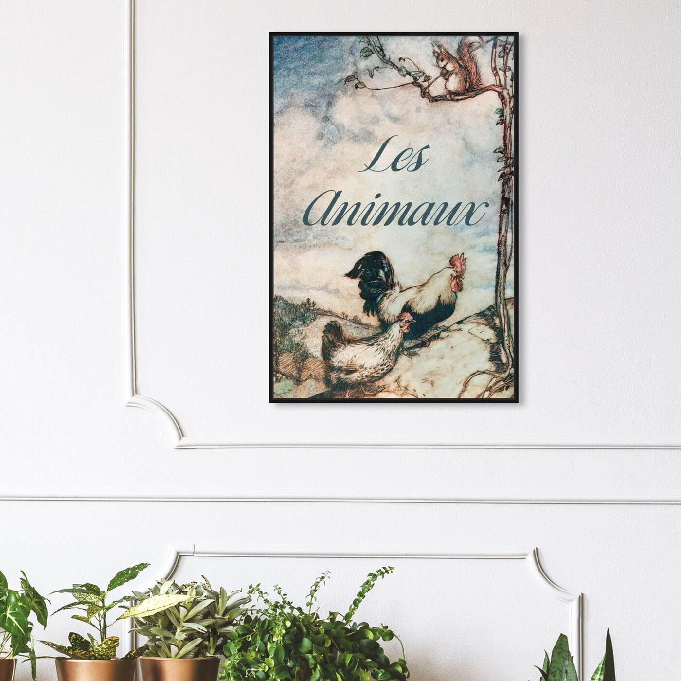 Hanging view of Les Animaux featuring animals and farm animals art.
