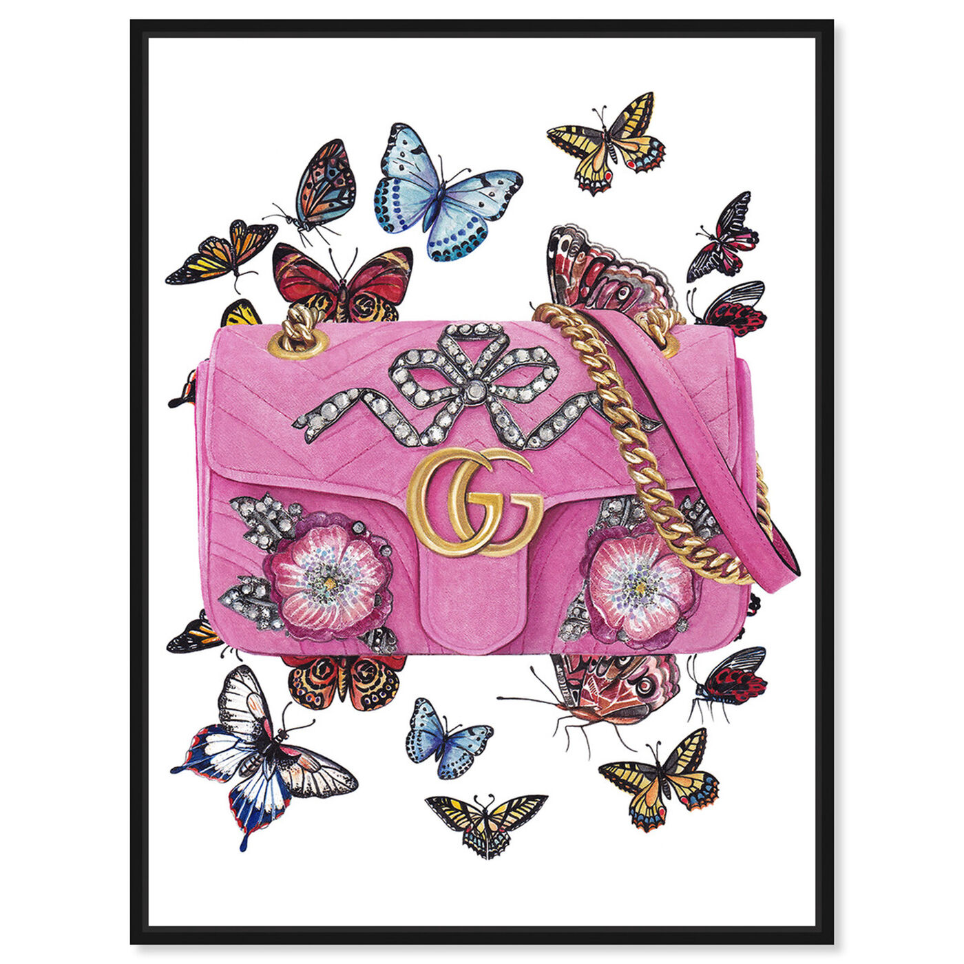 Front view of Doll Memories - Butterflies featuring fashion and glam and handbags art.