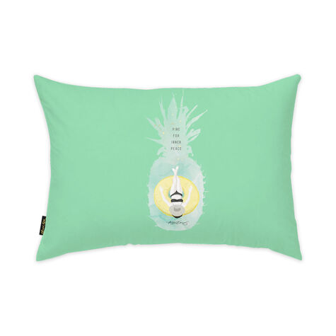 Pineapple Peace Pillow by Maggie P. Chang II