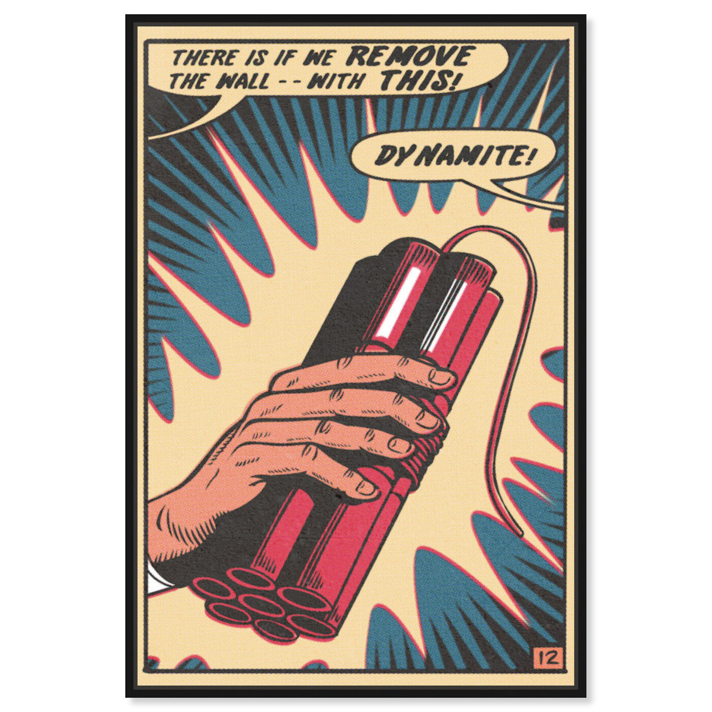Front view of Dynamite featuring advertising and comics art.