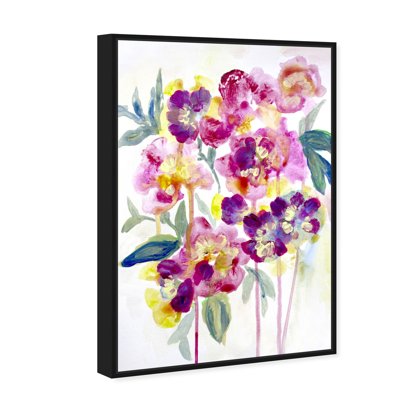 Angled view of Floral Dawny featuring floral and botanical and florals art.