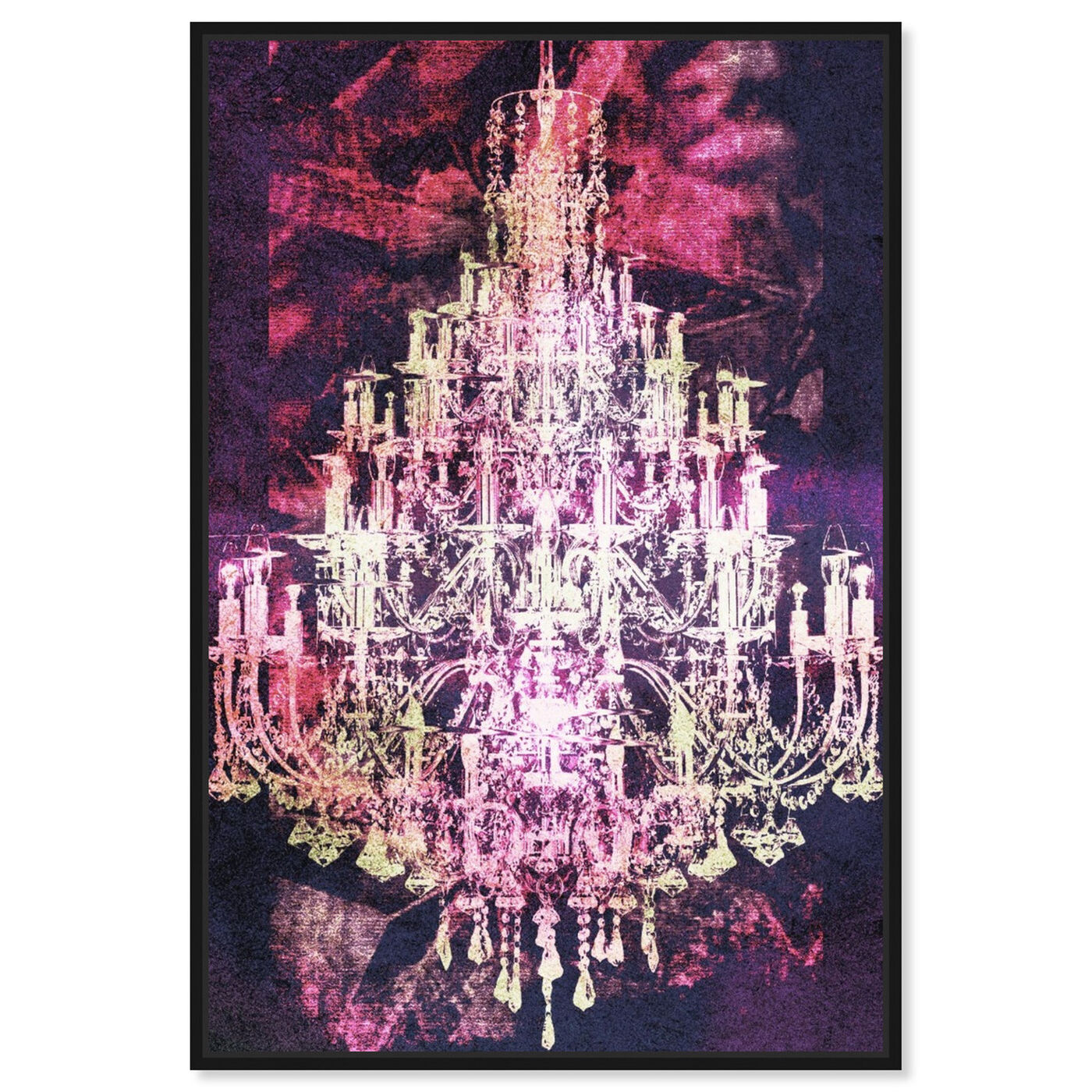 Front view of Montecarlo Crystal Pink featuring fashion and glam and chandeliers art.