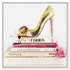 Front view of Gold Shoe and Fashion Books featuring fashion and glam and shoes art. image number null