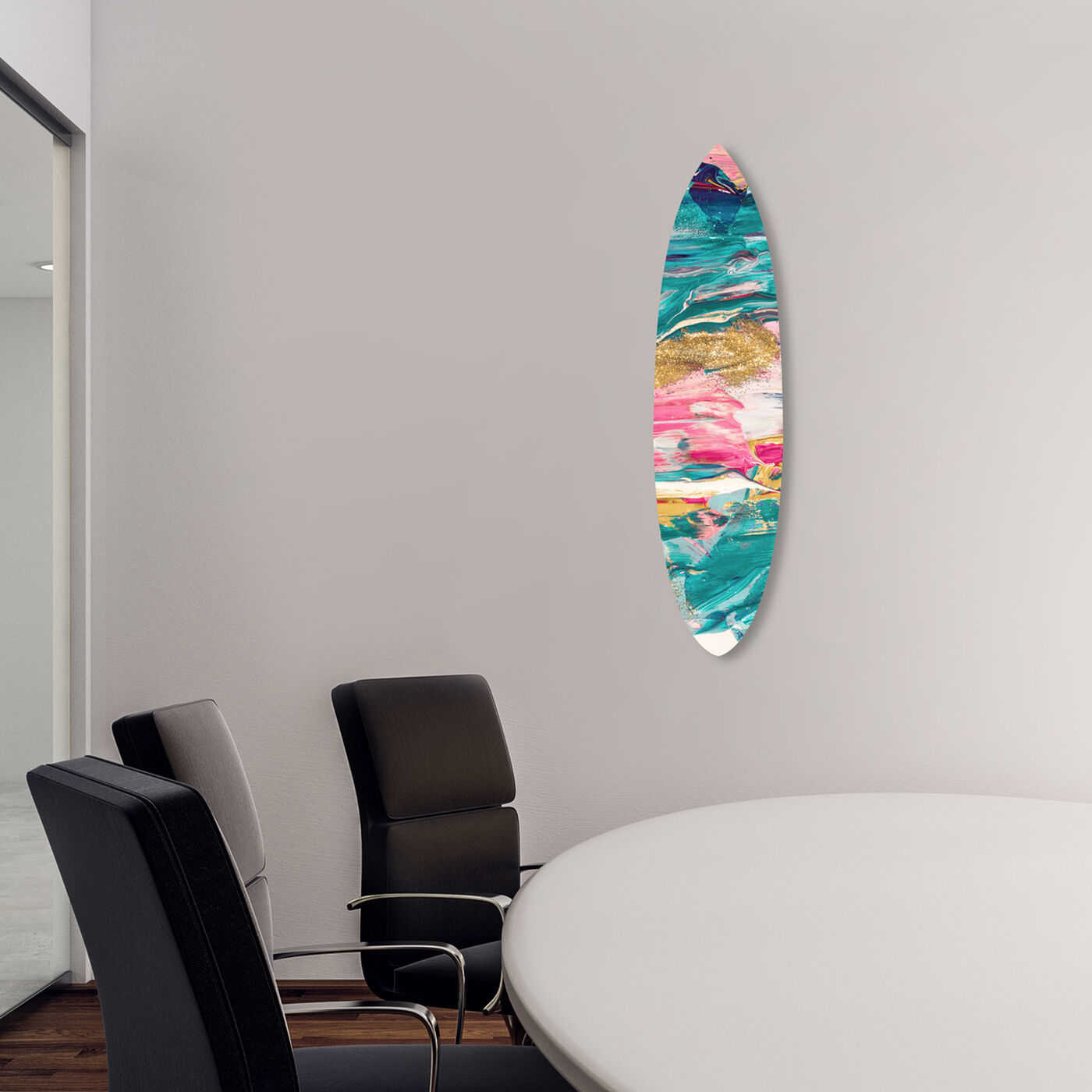 Pastel Thoughts Surfboard Flat