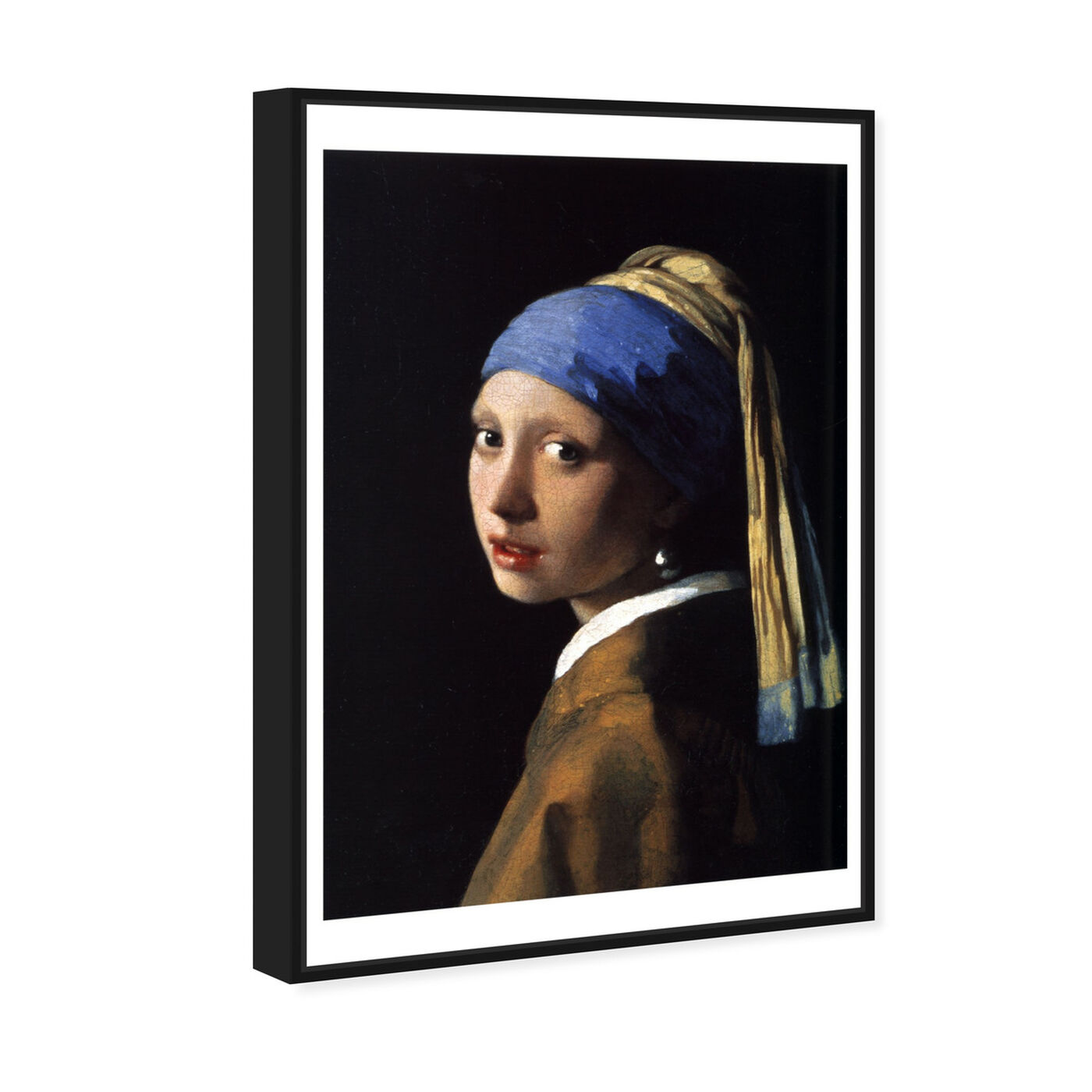 Angled view of Vermeer - Girl With The Pearl Earring featuring classic and figurative and renaissance art.