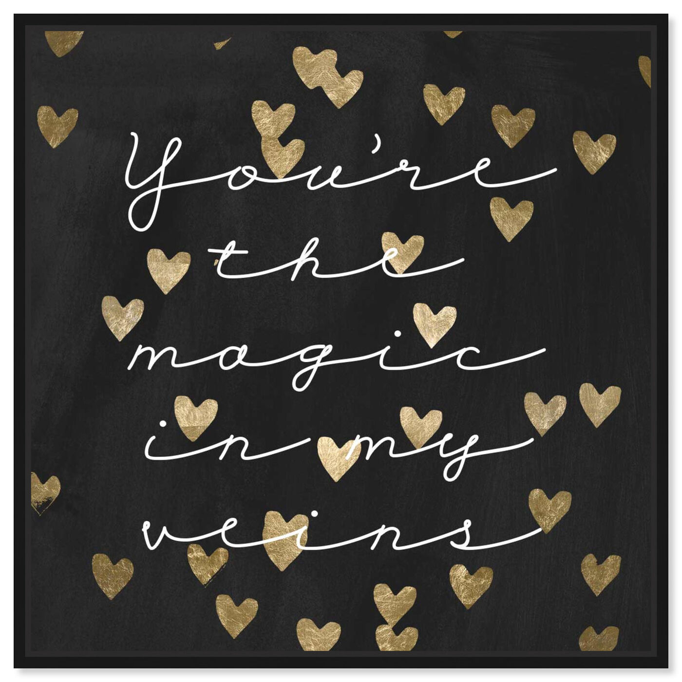 Front view of Magic in Me Night featuring typography and quotes and love quotes and sayings art.