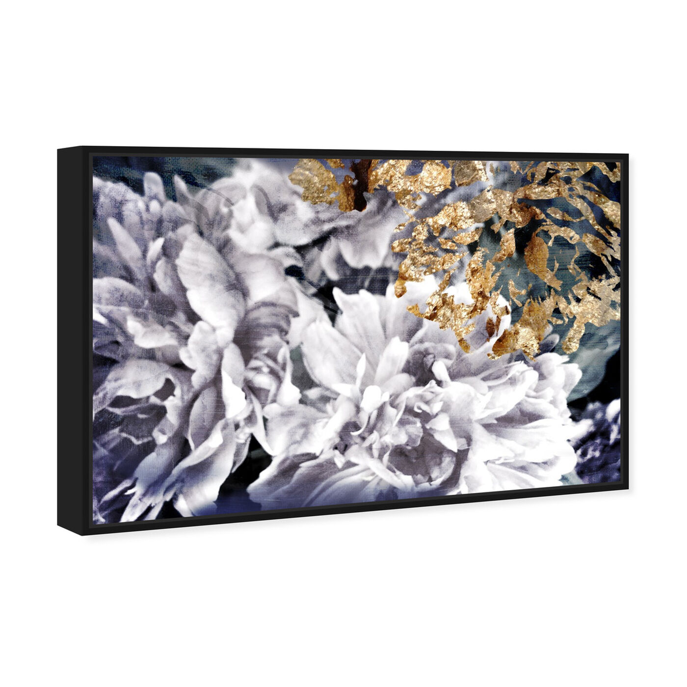 Angled view of Dos Gardenias featuring floral and botanical and florals art.