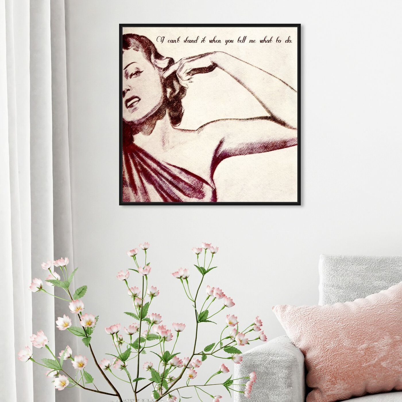 Hanging view of Bell featuring typography and quotes and funny quotes and sayings art.