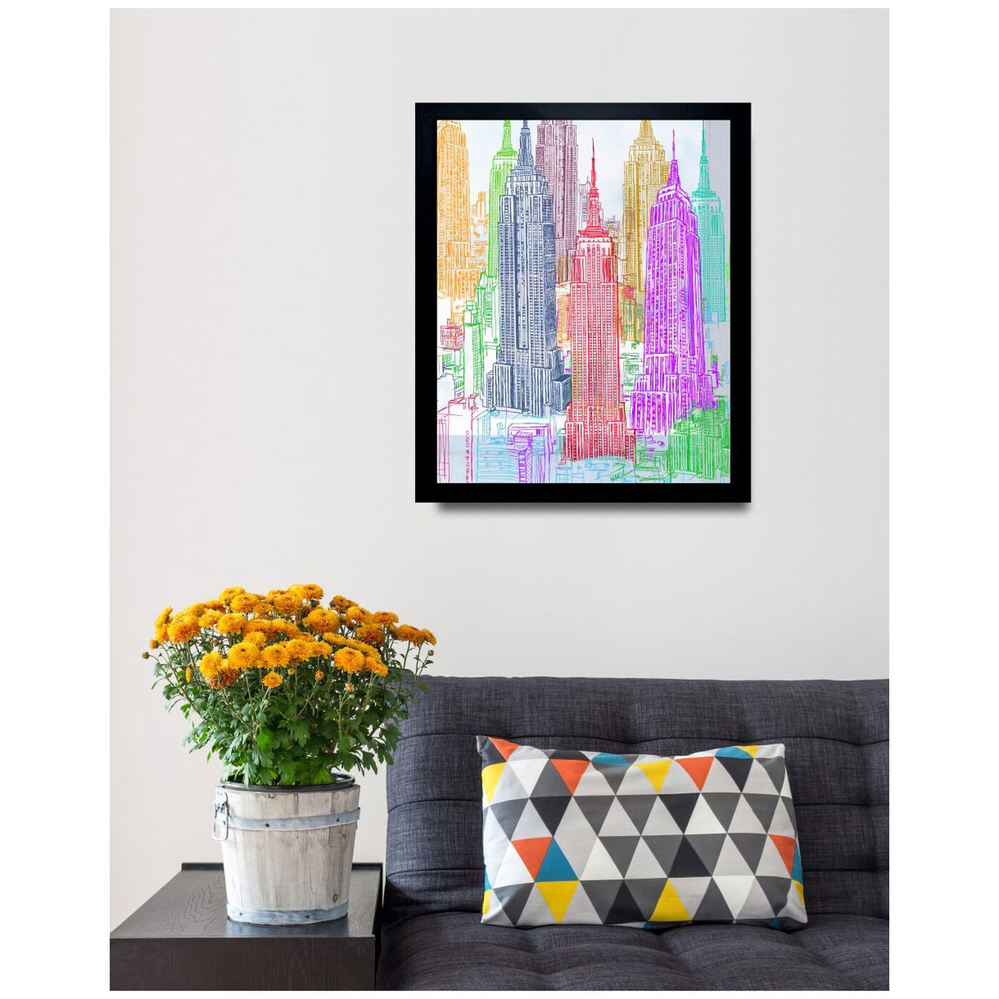 Hanging view of Construct featuring architecture and buildings and united states buildings art.