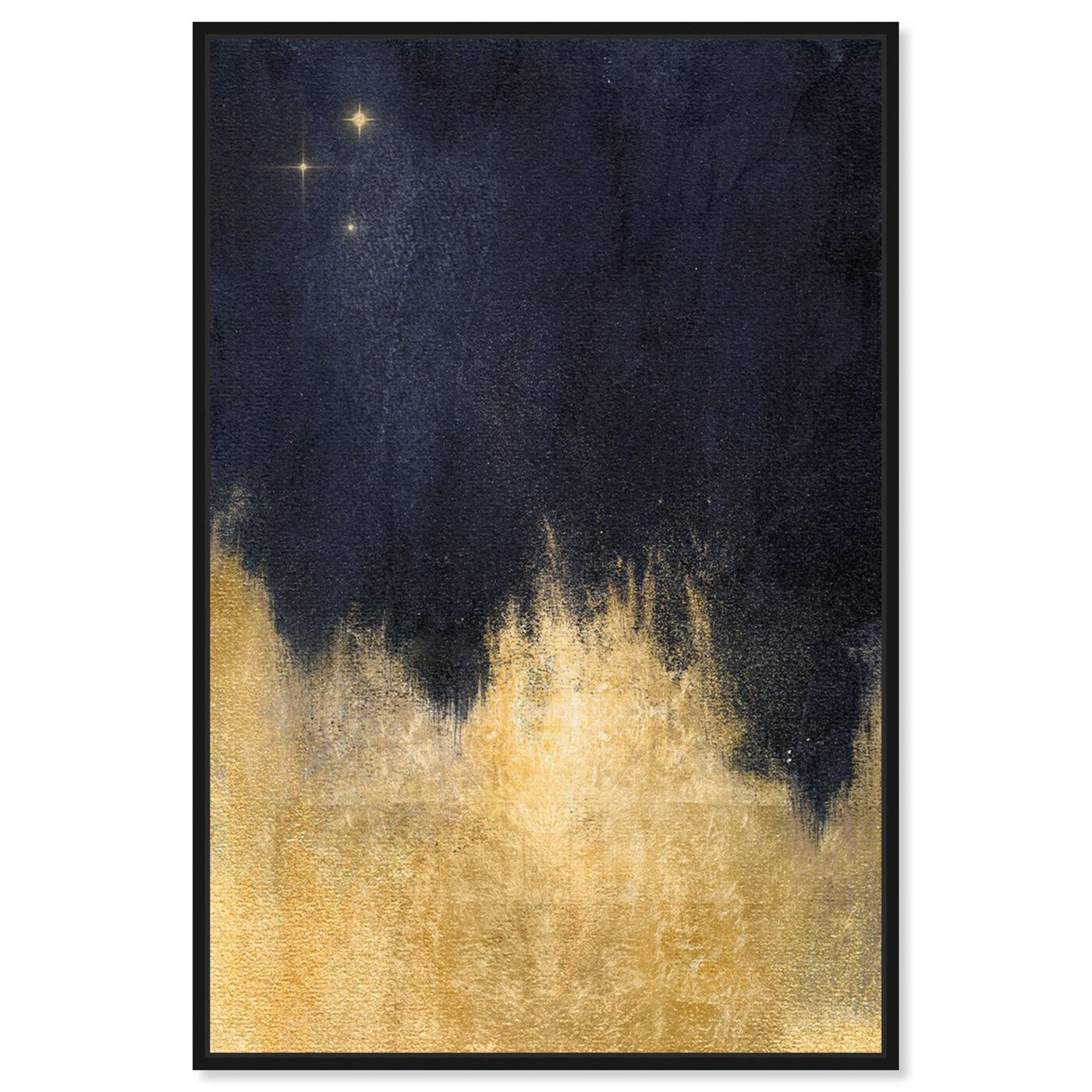 Front view of Stars in the Night featuring abstract and paint art.