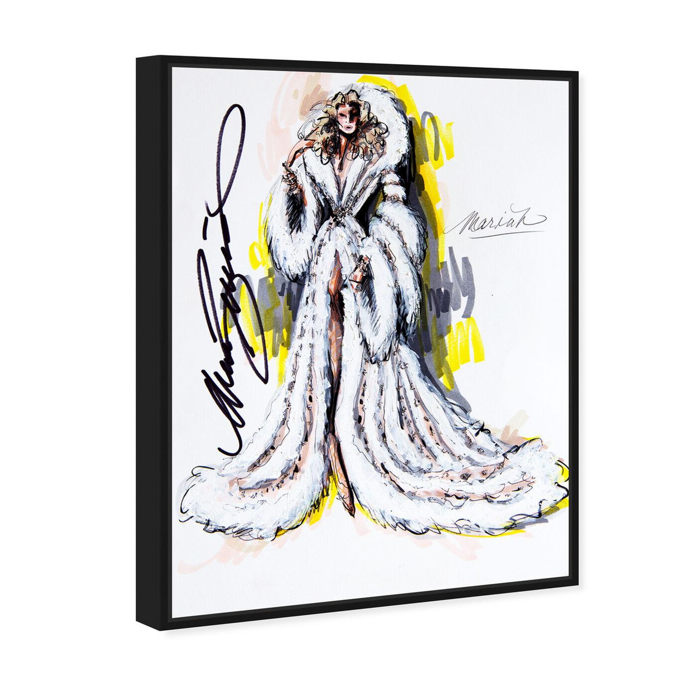 Angled view of Mark Zunino - Mariah featuring fashion and glam and dress art.