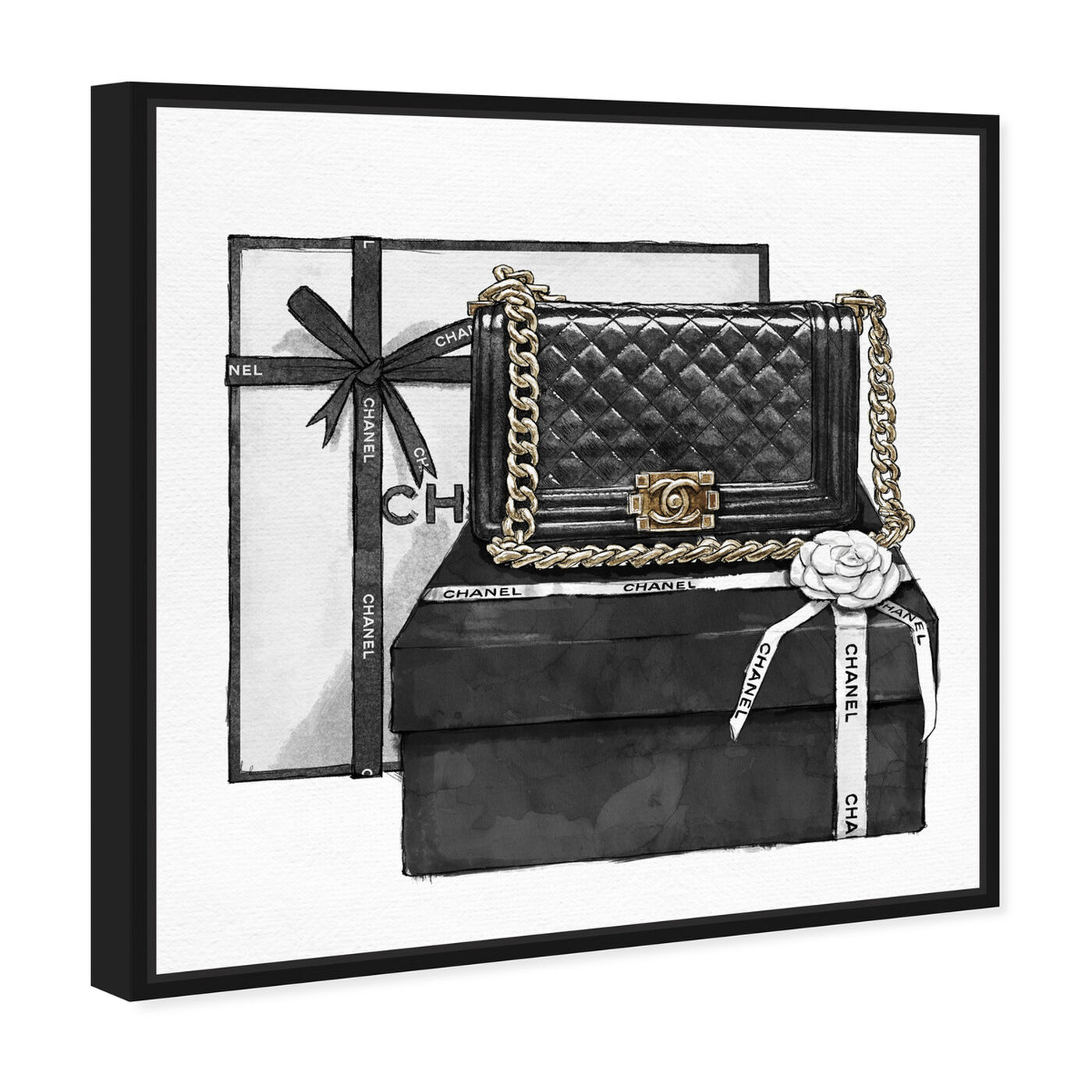 Angled view of Gifted Beauty featuring fashion and glam and handbags art.