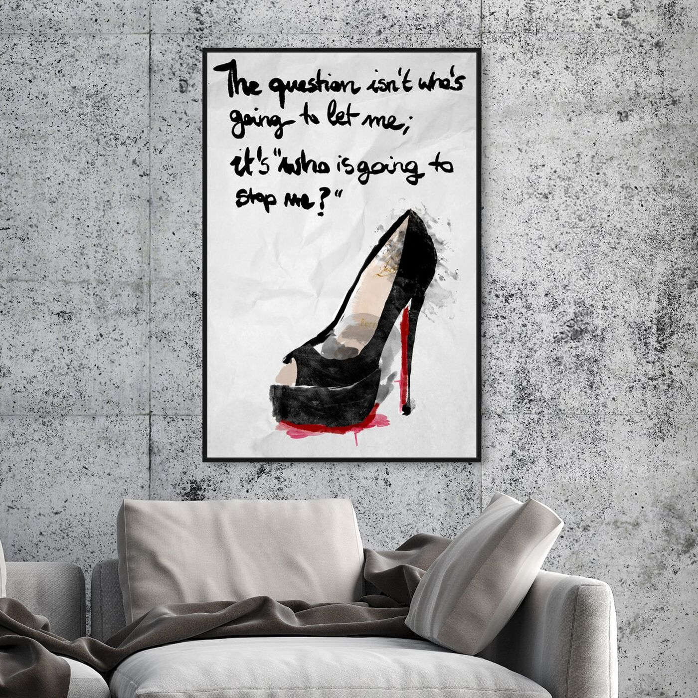 Hanging view of Who's Going To Stop Me featuring typography and quotes and empowered women quotes and sayings art.