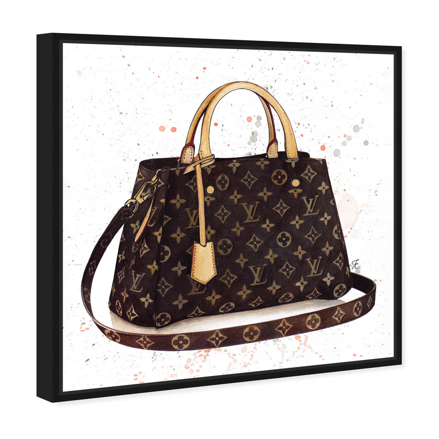 Angled view of Doll Memories -Details Bag featuring fashion and glam and handbags art.