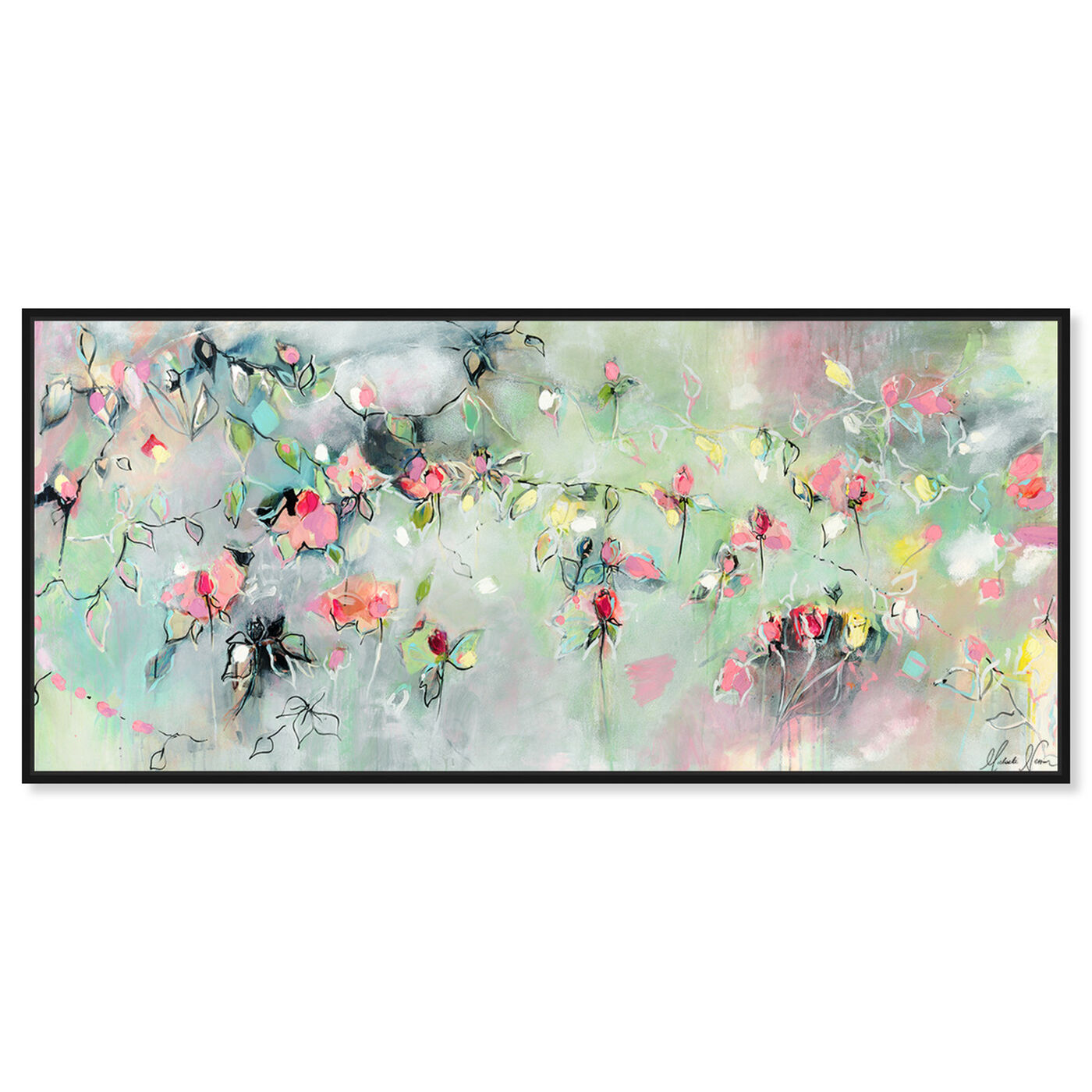 Front view of Appear and Disappear by Michaela Nessim featuring abstract and flowers art.
