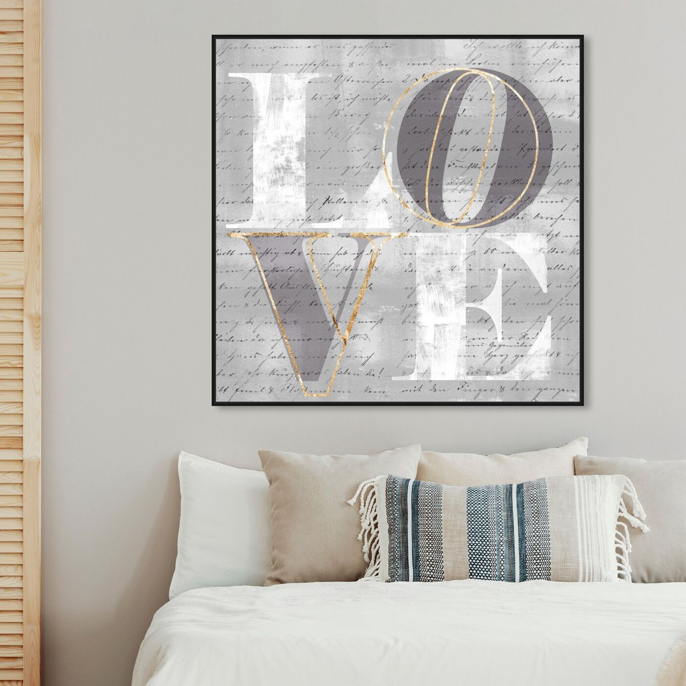 Hanging view of Double Love I featuring typography and quotes and love quotes and sayings art.