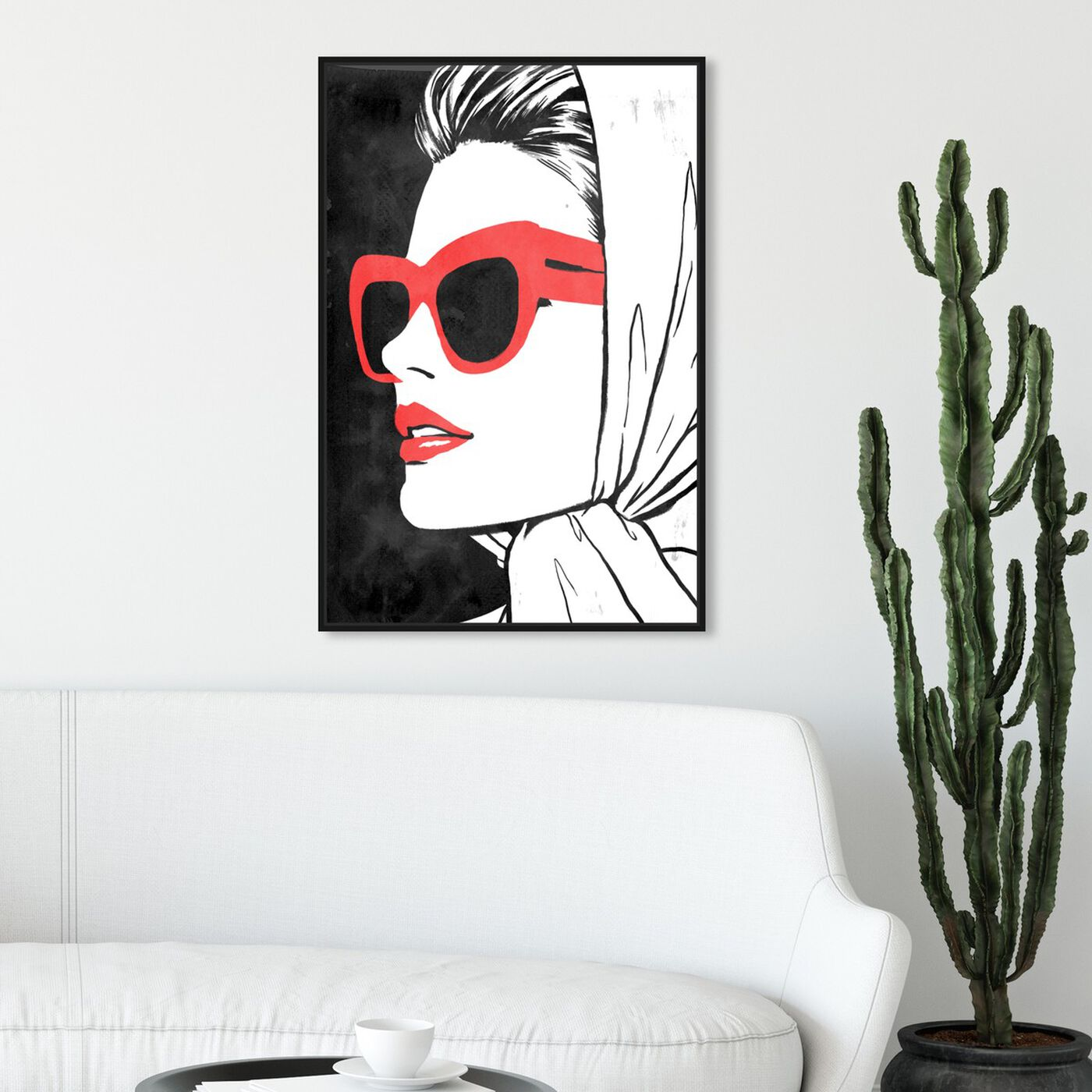 Hanging view of Retro Glam II II featuring fashion and glam and portraits art.