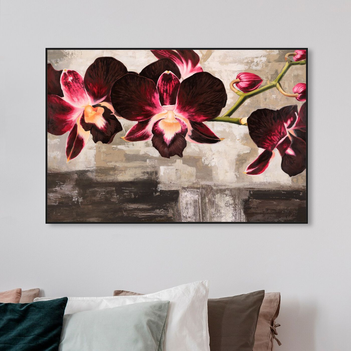 Hanging view of Sai - Rouge Floral 3MI1889 featuring floral and botanical and florals art.