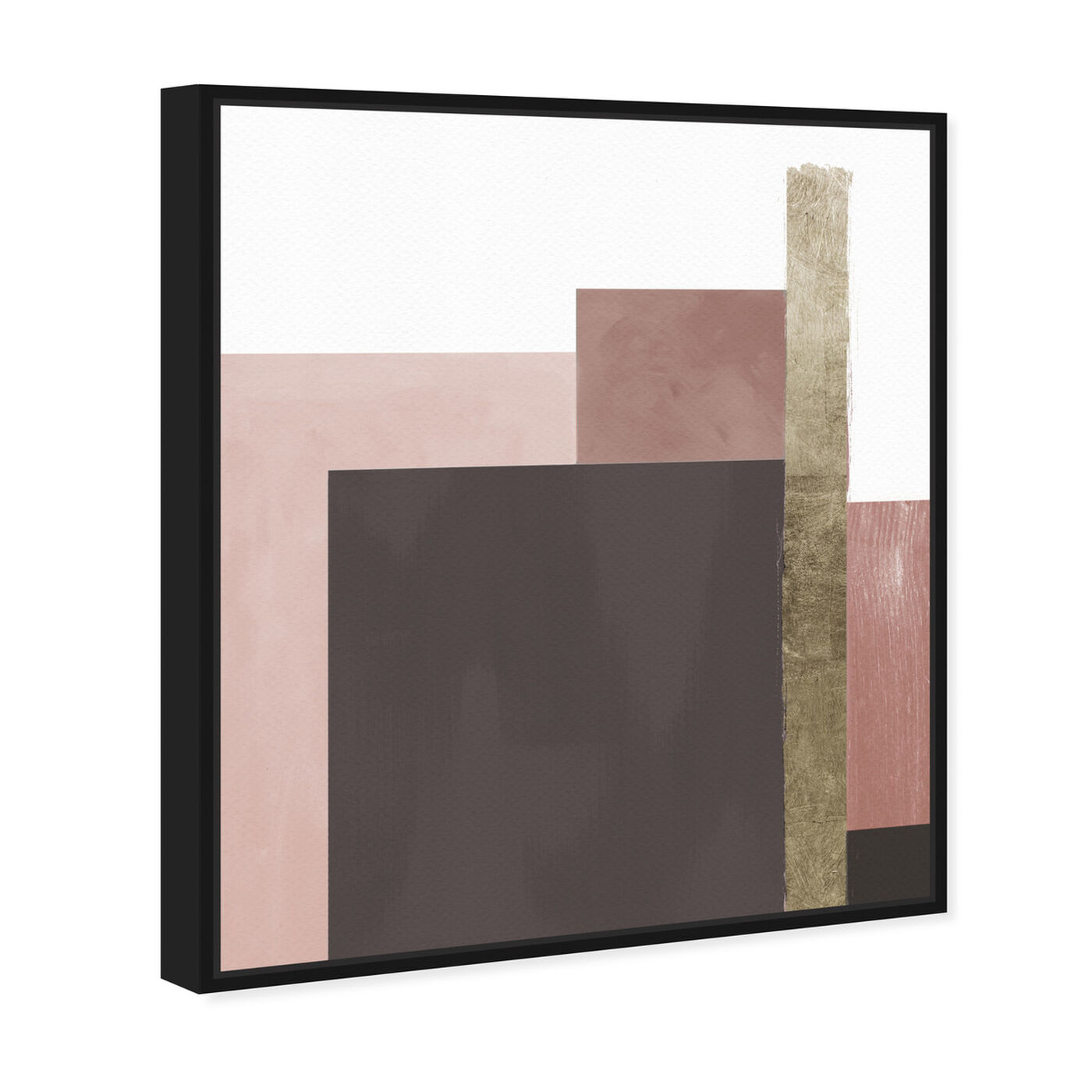 Angled view of Me Boheme Neutral Champagne featuring abstract and geometric art.