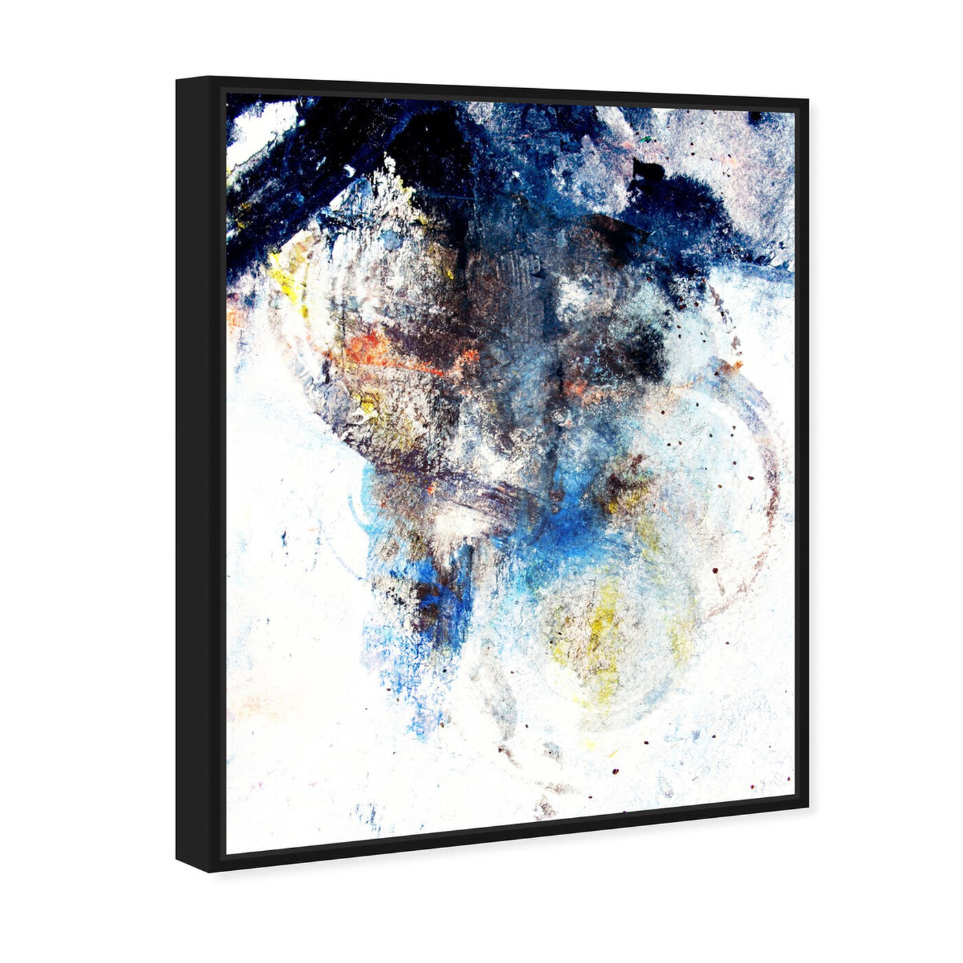 Angled view of Snow Storm featuring abstract and paint art.