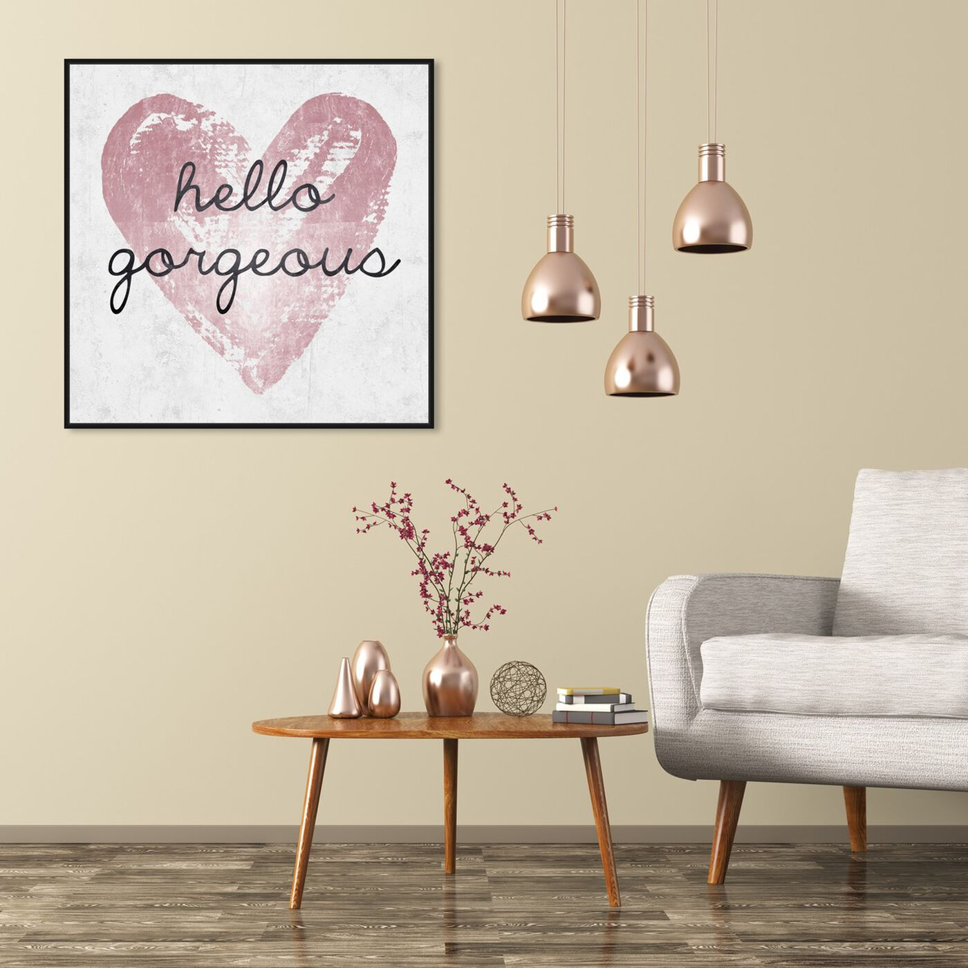 Hanging view of Gorgeous Salute Rose featuring typography and quotes and beauty quotes and sayings art.