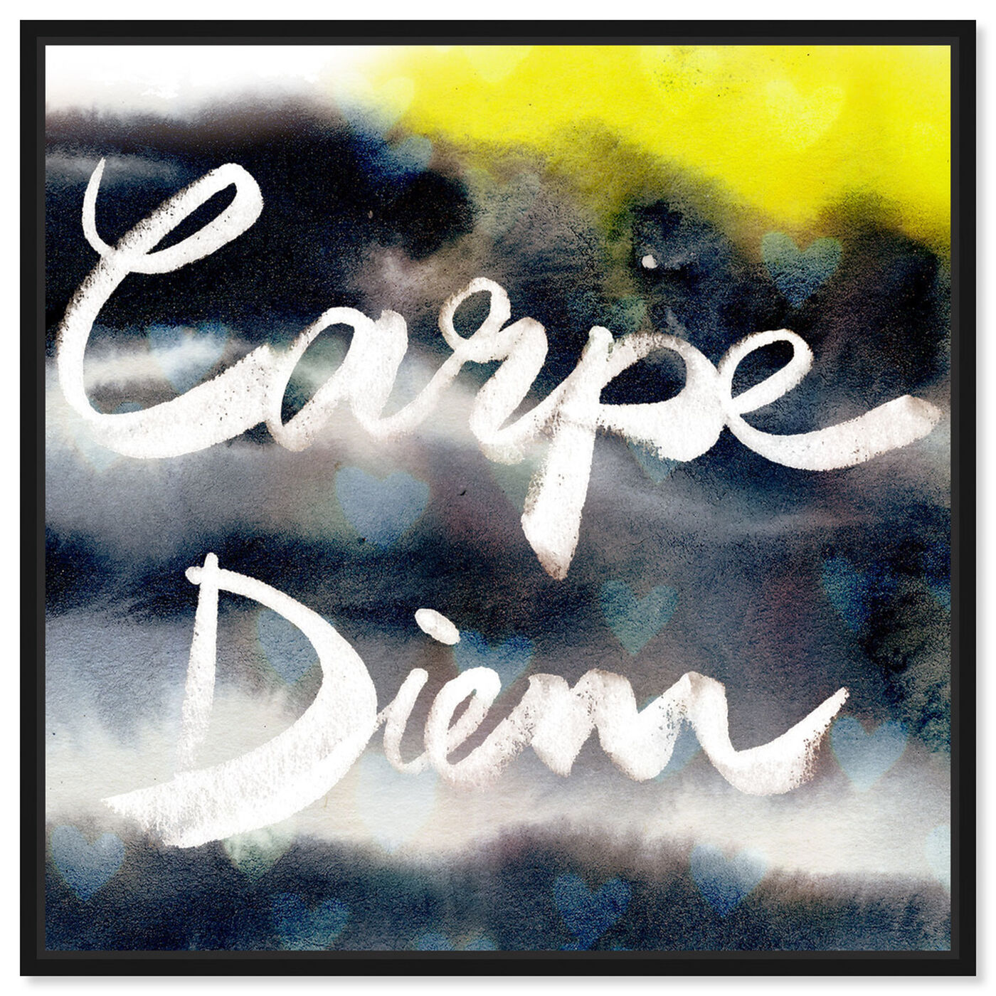 Front view of Carpe Diem Neon featuring typography and quotes and quotes and sayings art.