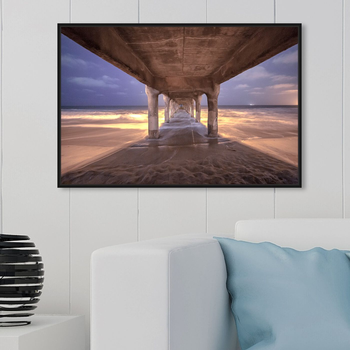 Hanging view of Curro Cardenal - Staring into Eternity featuring nautical and coastal and coastal art.