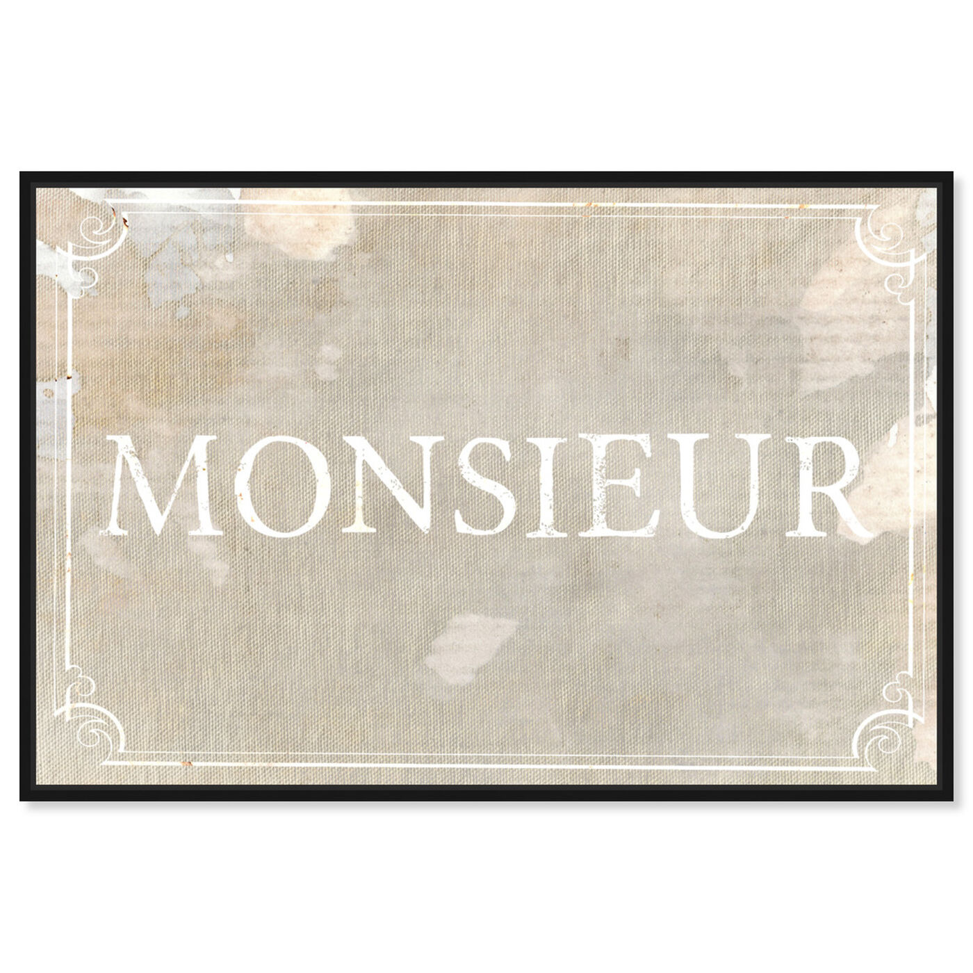 Front view of Monsieur featuring typography and quotes and quotes and sayings art.