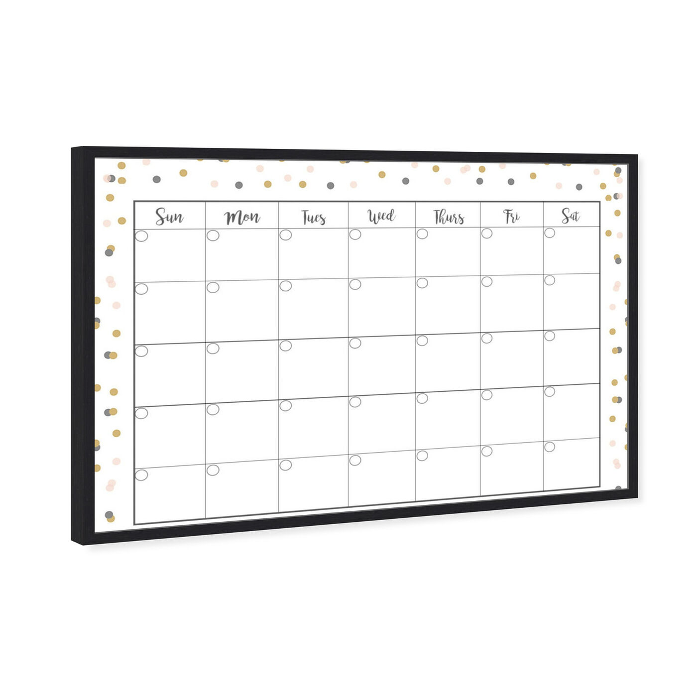 Angled view of Confetti Calender featuring education and office and educational charts art.