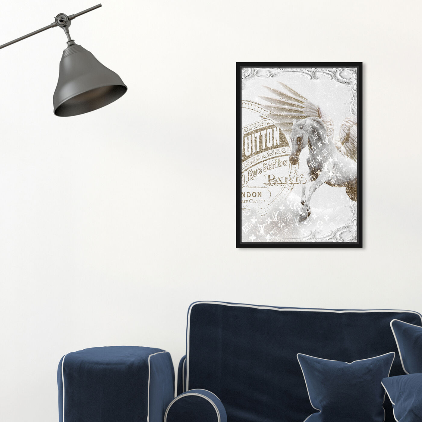 Hanging view of Double Vision 2 featuring fashion and glam and travel essentials art.