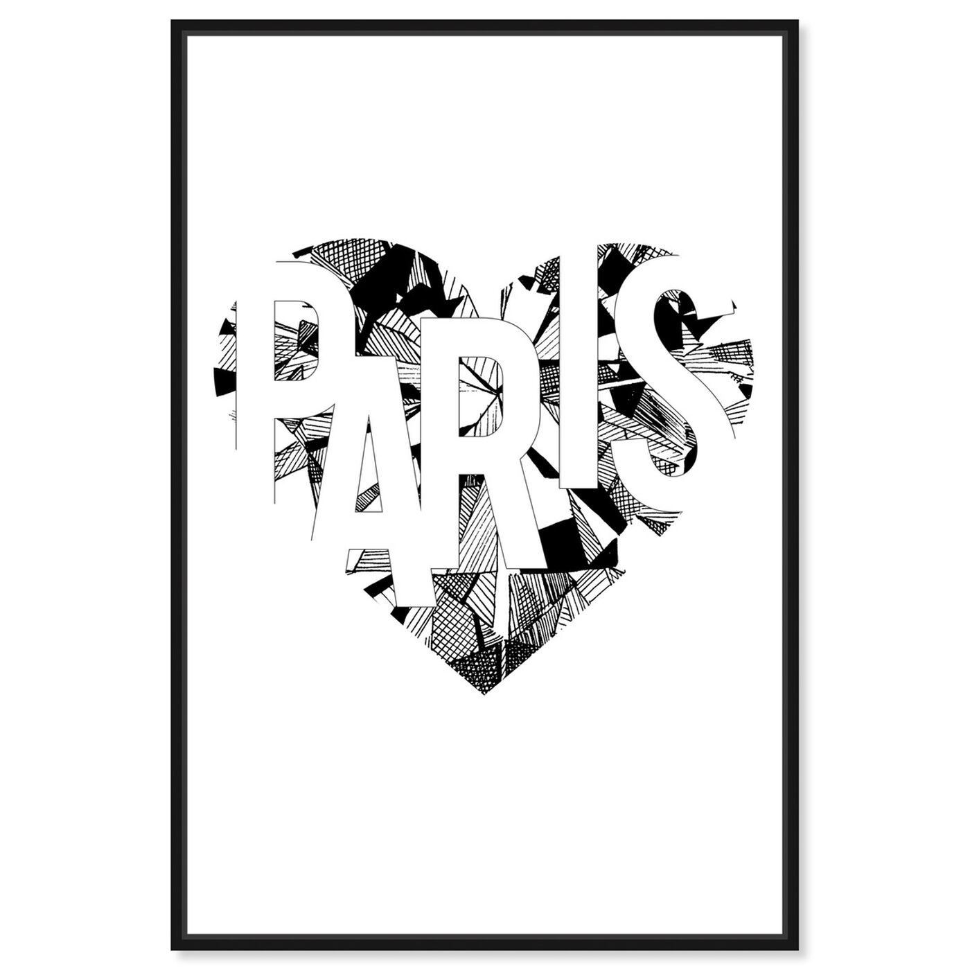 Front view of I Love Paris featuring fashion and glam and hearts art.