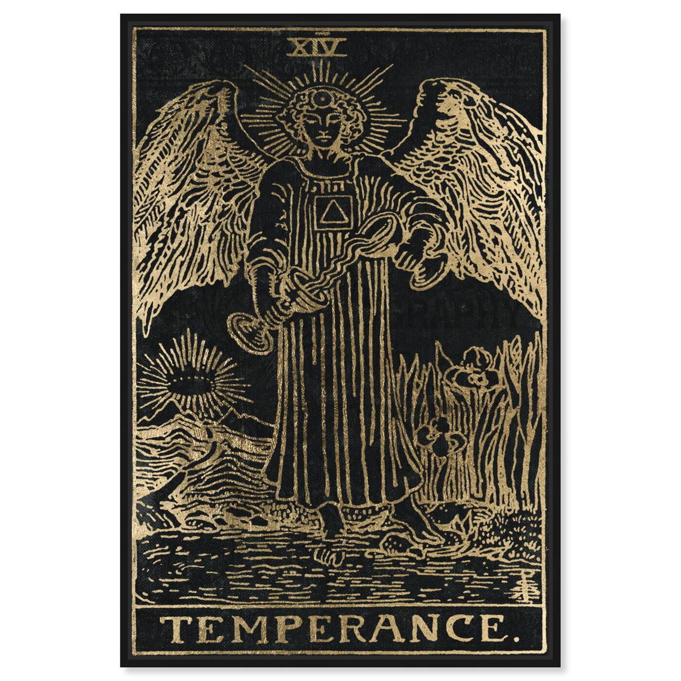 Front view of Temperance Tarot featuring spiritual and religious and astrology art.