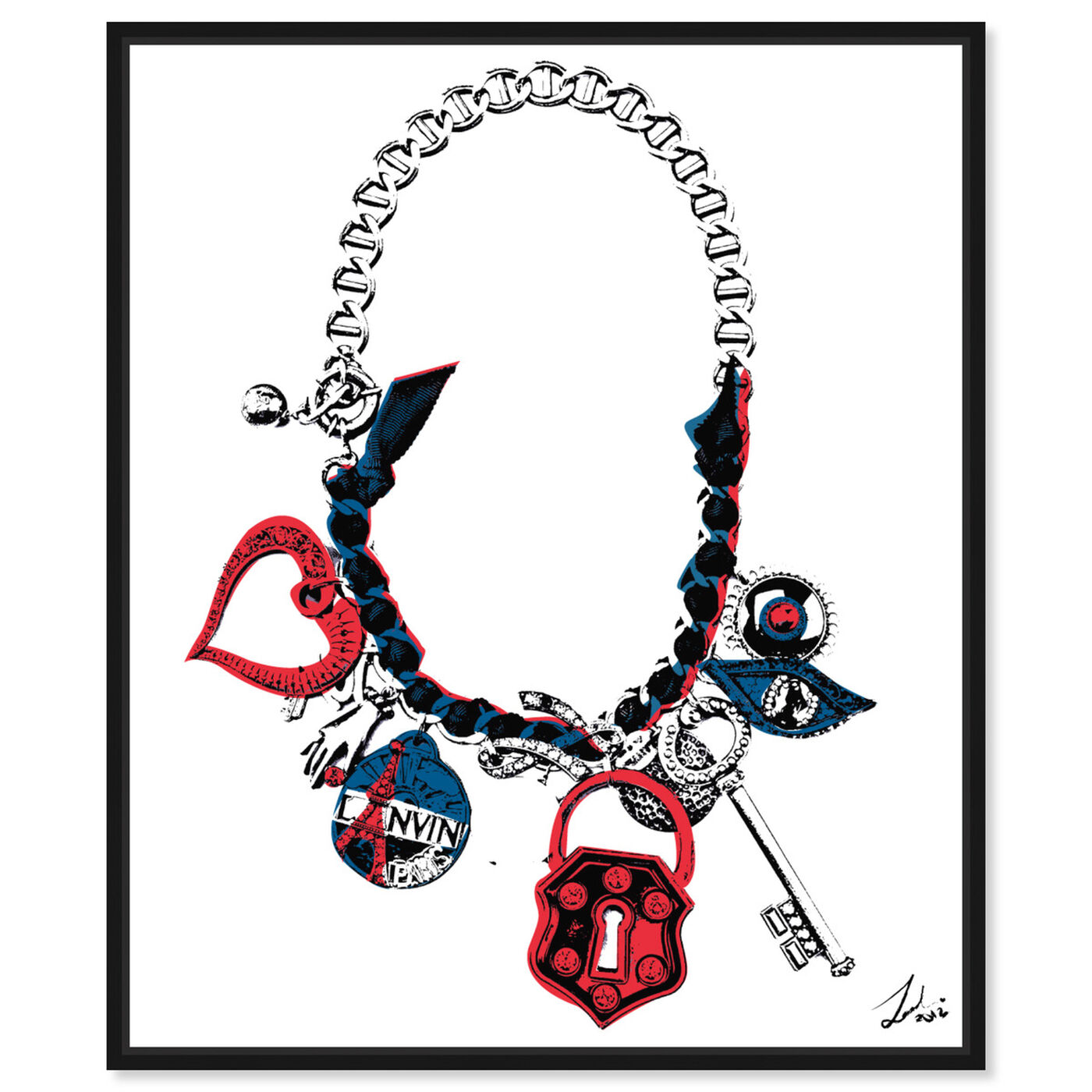Front view of Paris on my Neck featuring fashion and glam and jewelry art.