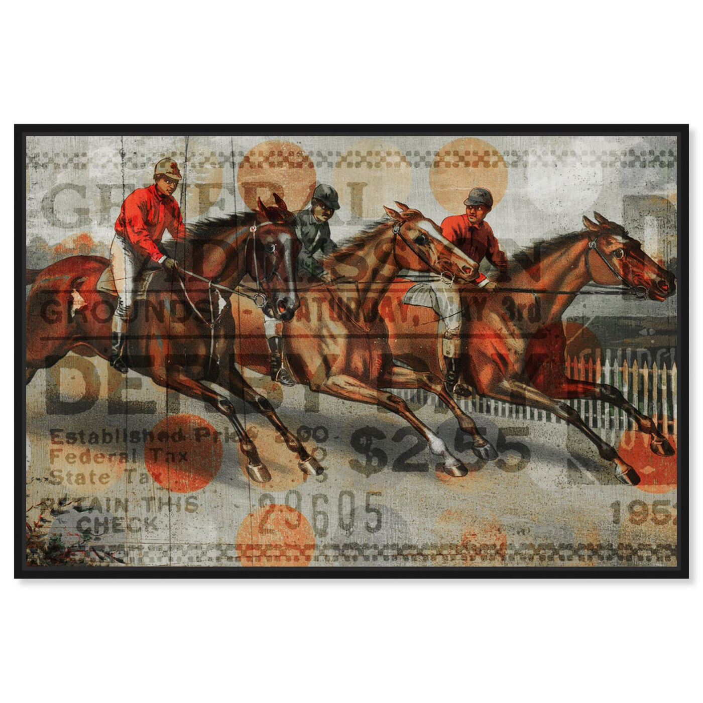 Front view of Ticket For The Derby featuring animals and farm animals art.