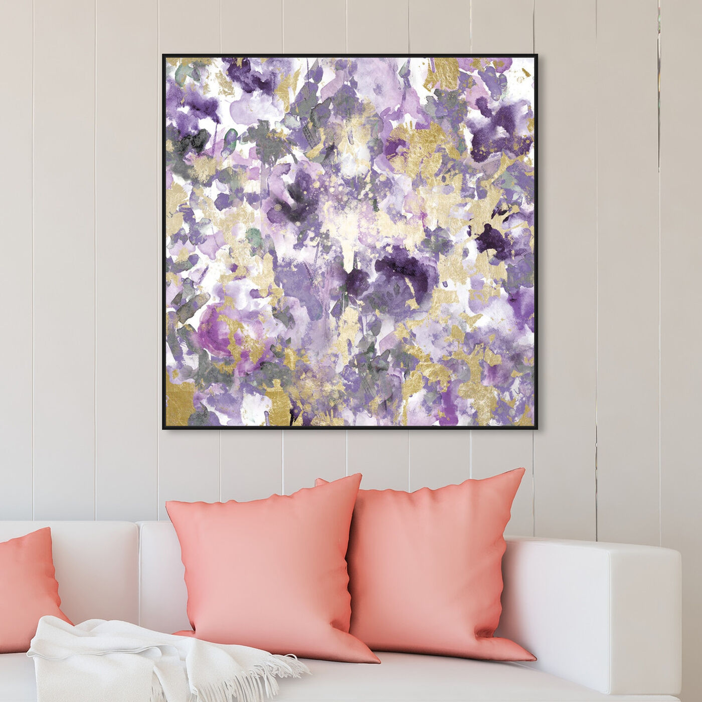 Hanging view of Wilderness Amethyst featuring abstract and paint art.