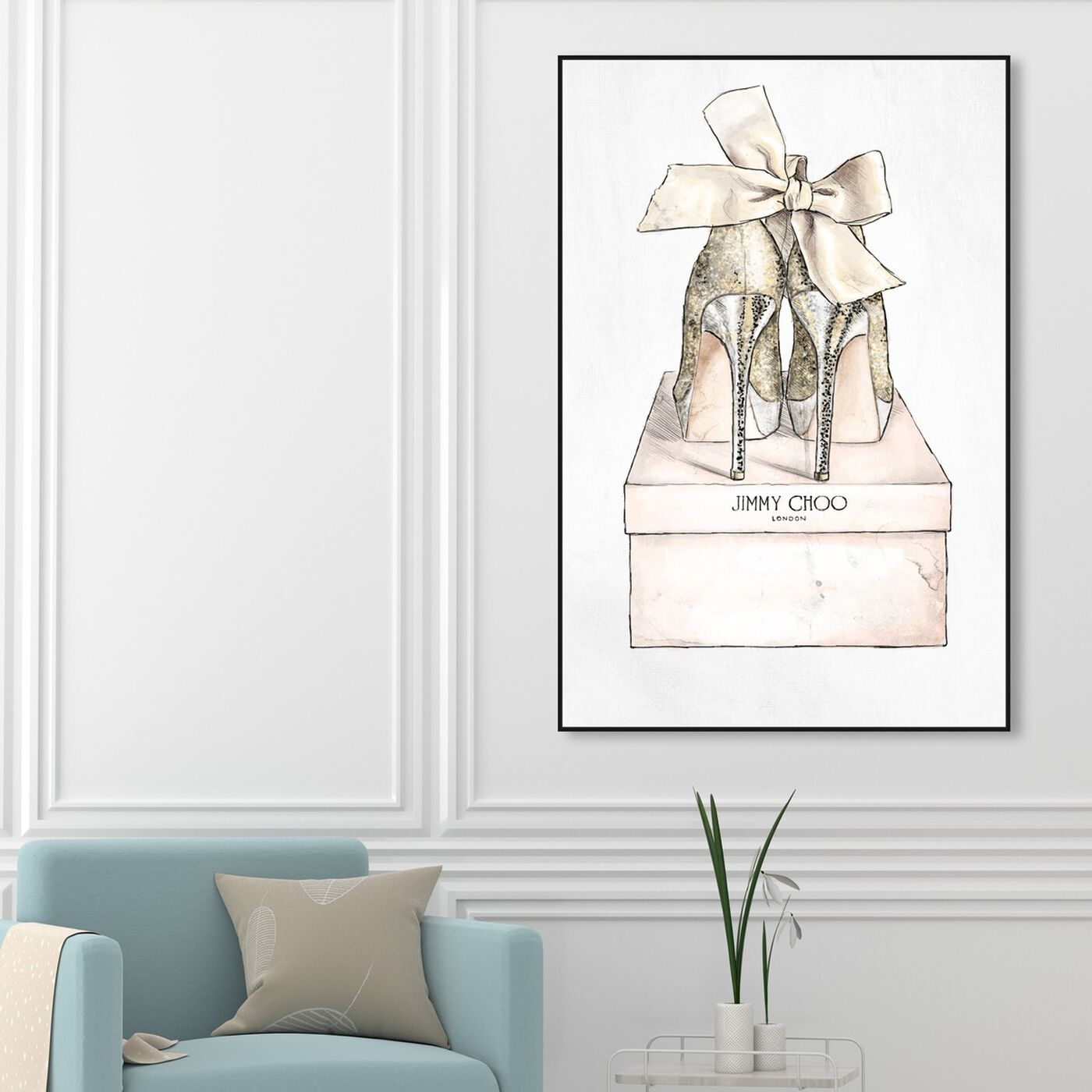 Hanging view of My Romantic Pair featuring fashion and glam and shoes art.