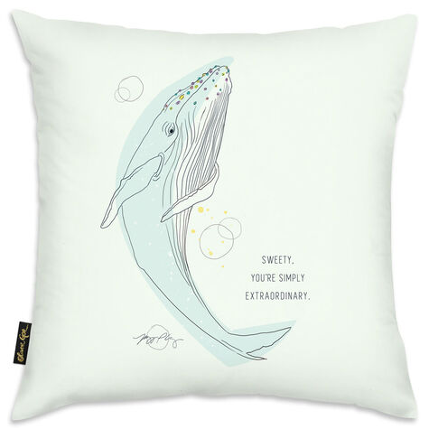Whale Calling Pillow by Maggie P. Chang I