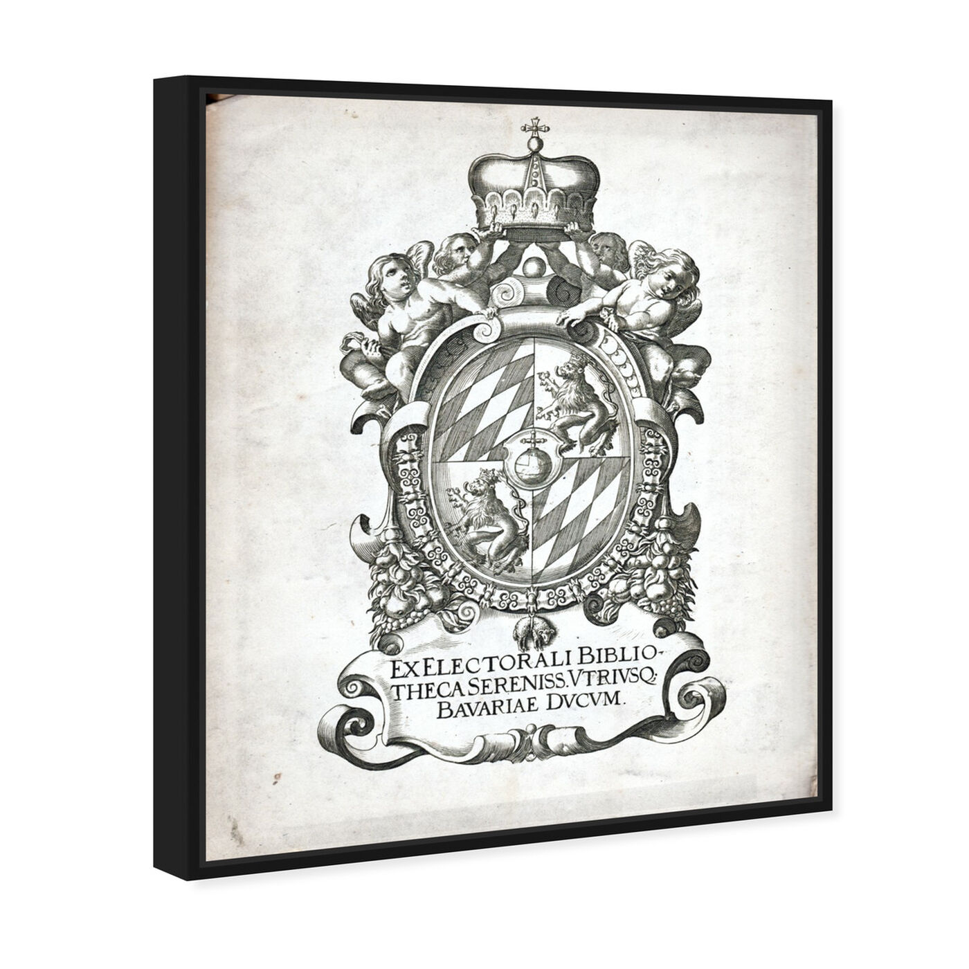 Angled view of Armorial Engravings I featuring world and countries and european cultures art.