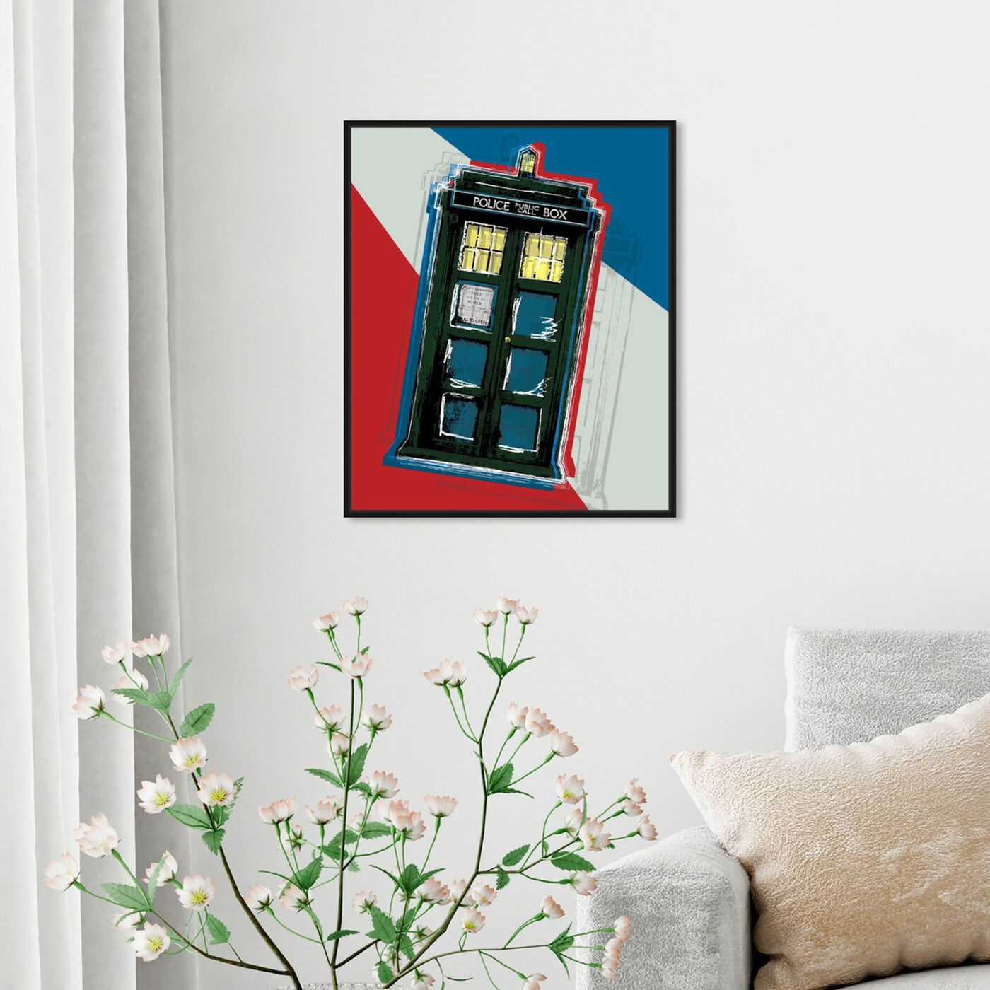 Hanging view of Tardis featuring world and countries and european cultures art.