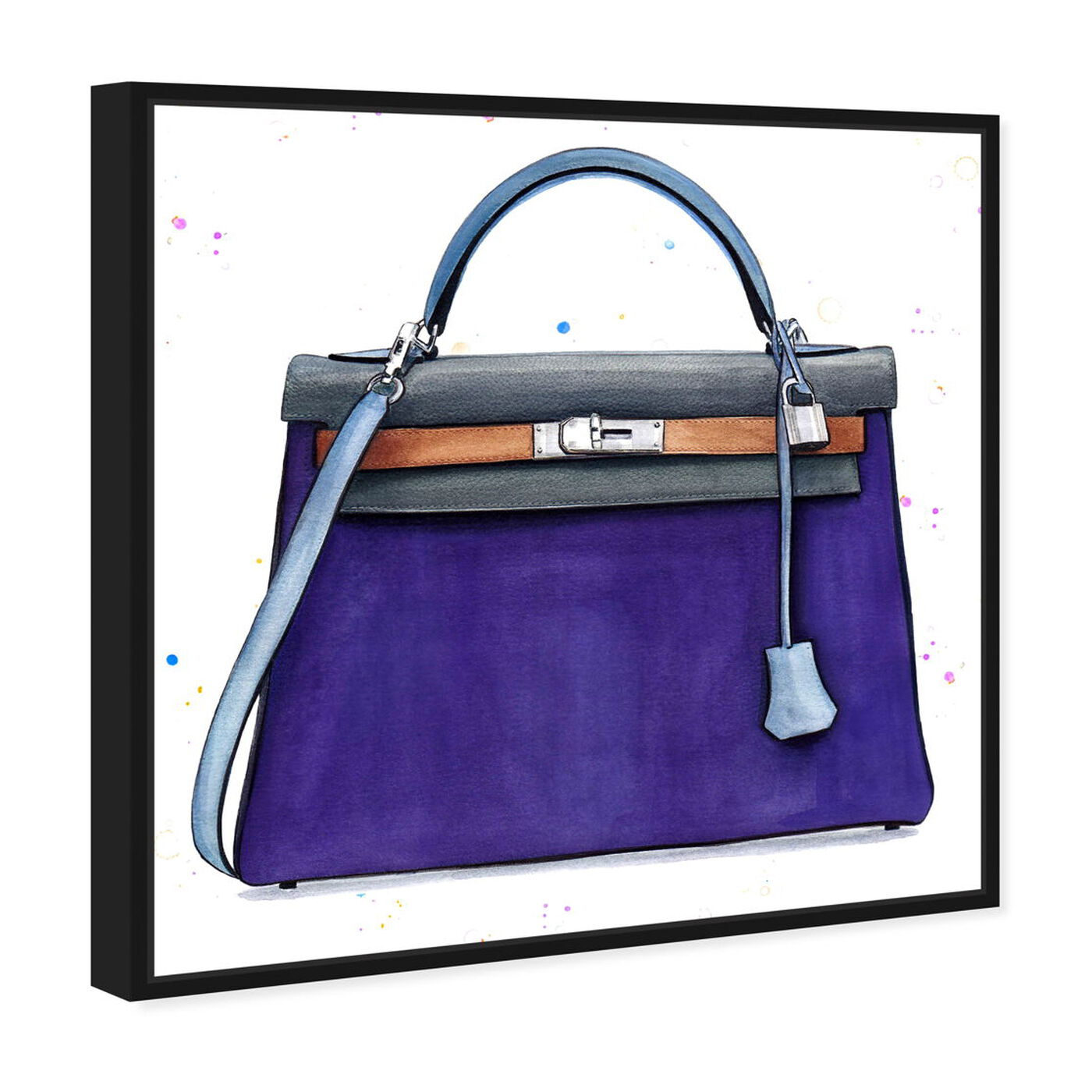 Angled view of Doll Memories - Violet featuring fashion and glam and handbags art.