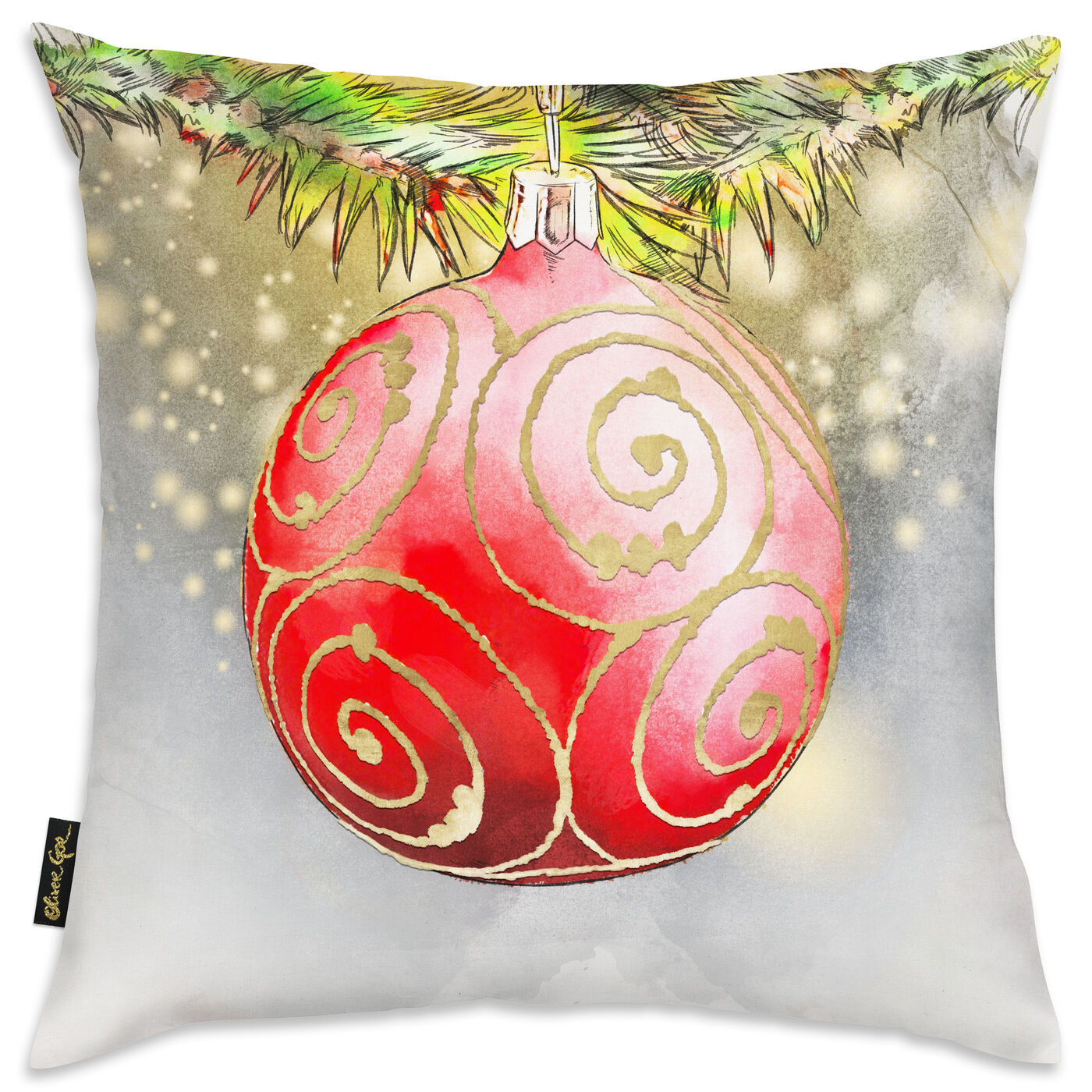 Golden Red Ornament