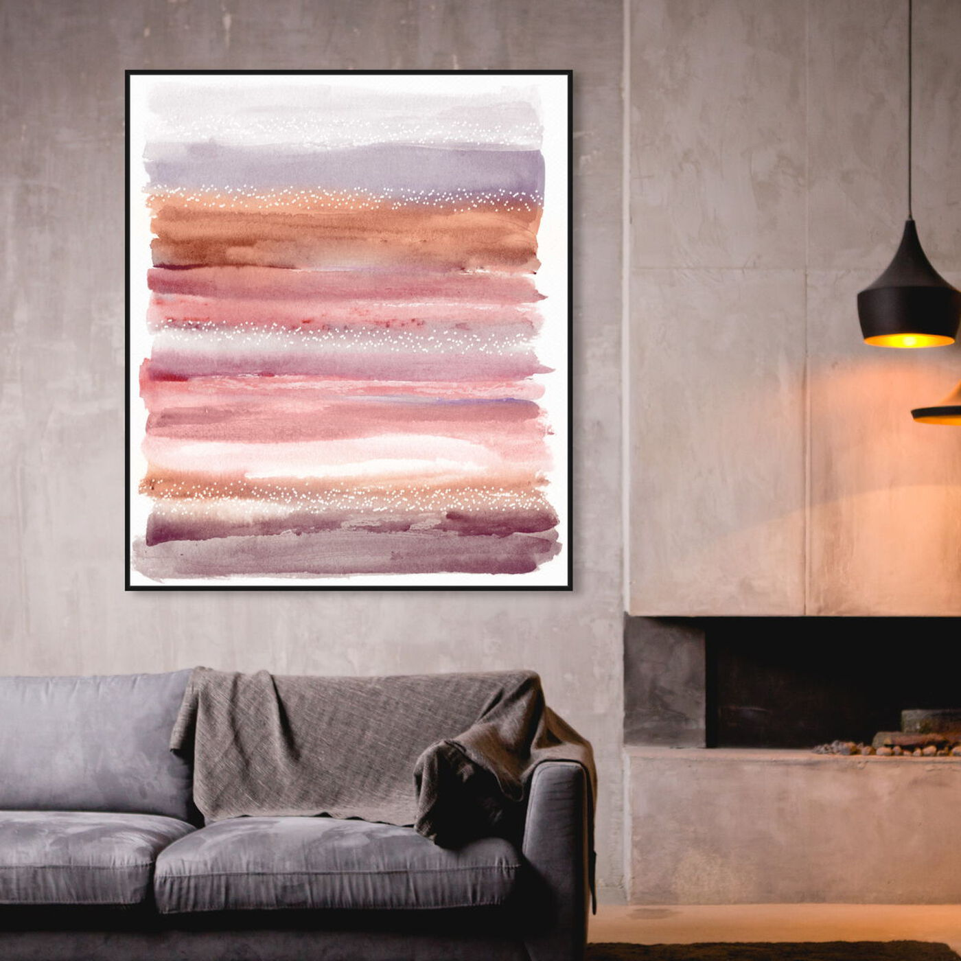 Hanging view of Lares Sunset Desert featuring abstract and paint art.