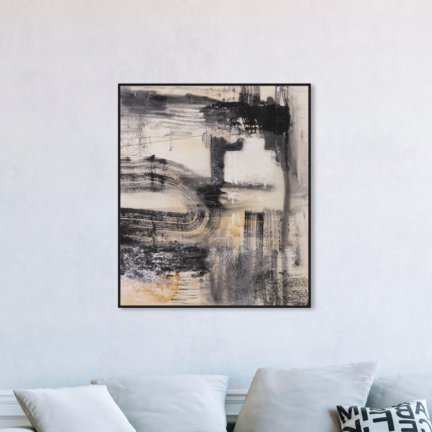 Hanging view of Golden Ash featuring abstract and paint art.