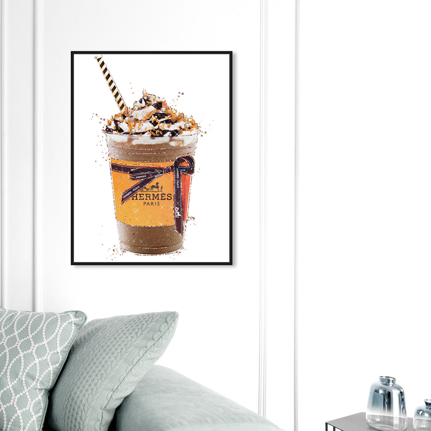 Hanging view of Caramel Amber Drink featuring fashion and glam and lifestyle art.