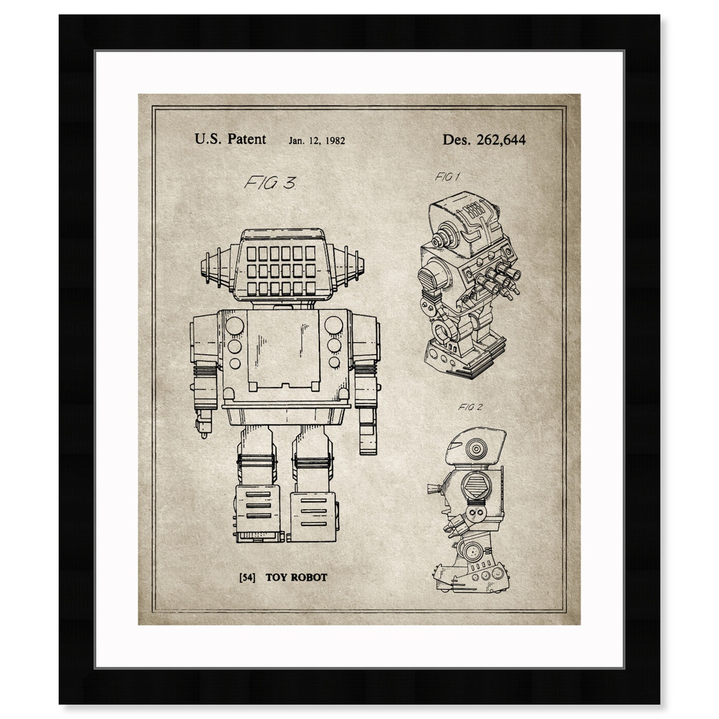 Front view of Toy Robot, 1982 - Gray featuring entertainment and hobbies and toys art.