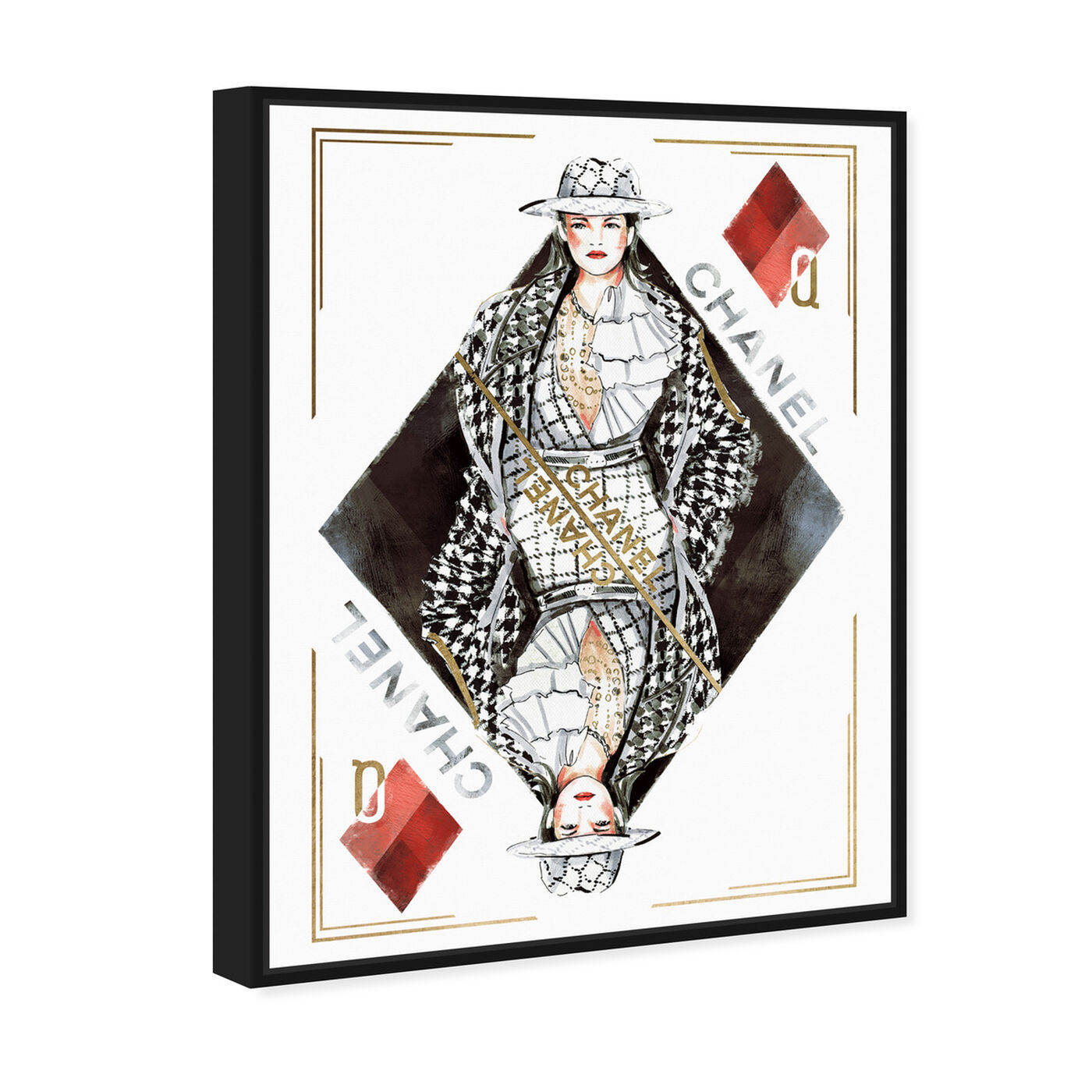 Angled view of Queen of Diamonds Classic featuring fashion and glam and outfits art.