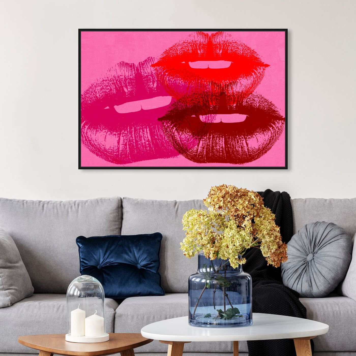 Hanging view of Smooch featuring fashion and glam and lips art.