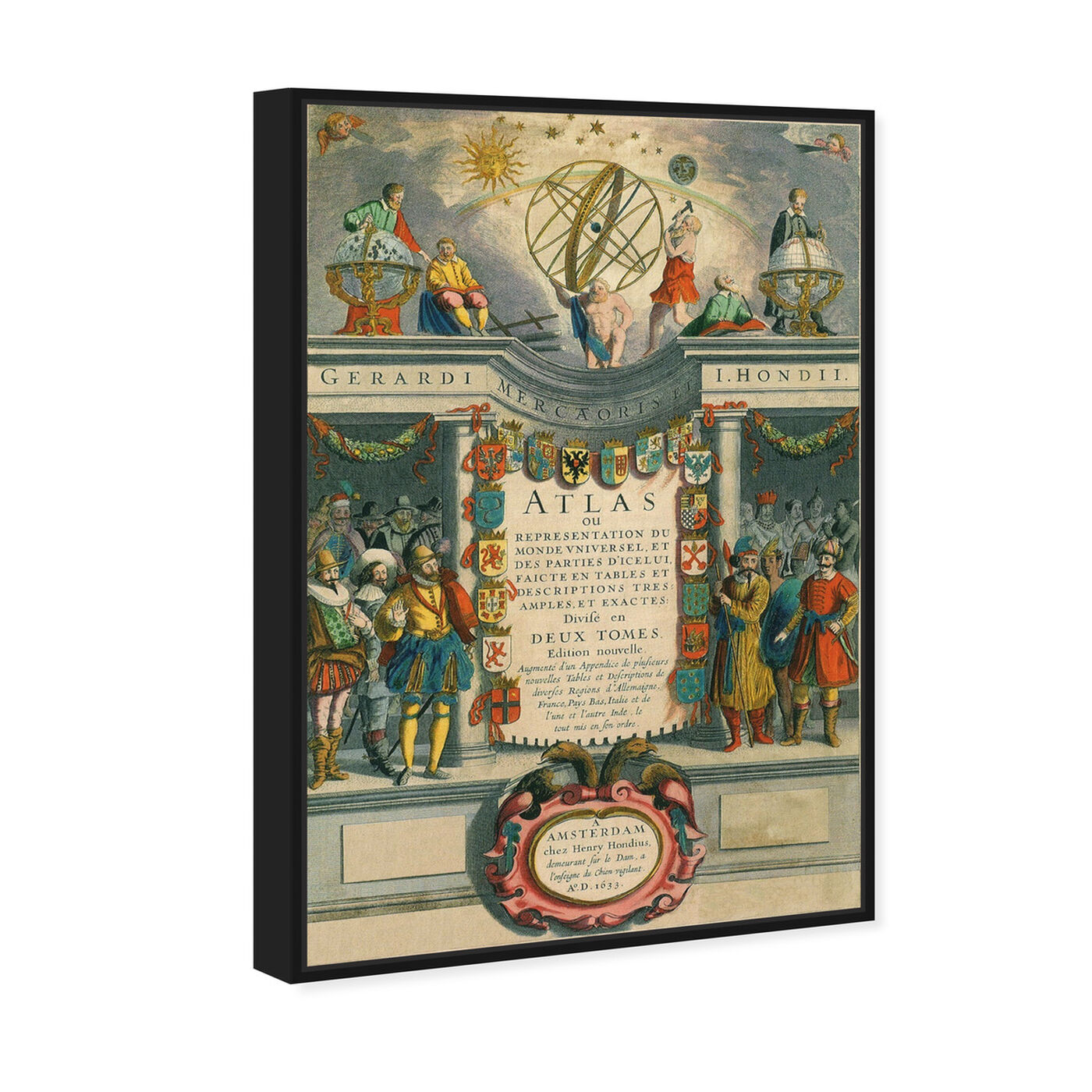 Angled view of Atlas Monde featuring classic and figurative and renaissance art.